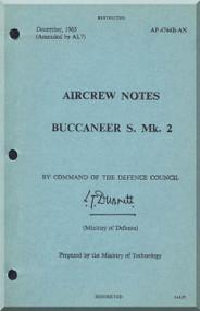 Blackburn Buccaneer S Mk. 2A Aircraft Aircrew Notes Manual