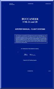 Blackburn Buccaneer S Mk. 2A ,B Aircraft Aircrew Notes Manual
