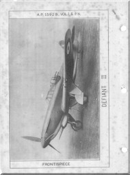 Boulton Paoul Defiant II  Aircraft  Service Manual A.P. 1592B  Volume II