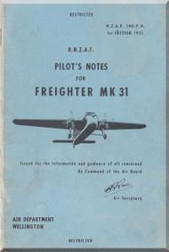 Bristol 170 Freighter  Mk.31 Aircraft Pilot's Notes Manual