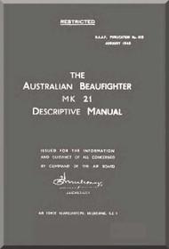 Bristol Beaufighter Mk.21  Aircraft Descriptive  Manual -  R.A.A.F No.615 , 1945
