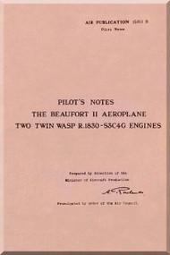 Bristol Beaufort II Aircraft  Pilot's Notes Manual