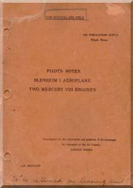 Bristol Blenheim I  Aircraft Pilot's Notes Manual -   A.P 1530 A