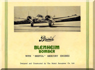 Bristol Blenheim Aircraft  Technical Brochure Manual