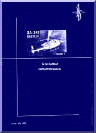 Sud Aviation  / SNCASE SA-341  Gazelle Helicopter  Instruction Manual - English