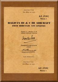 Handley Page Halifax III &  C III  Aircraft Service Manual  A.P. 1719C
