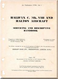 Handley Page Halifax C VIII  Aircraft  Service Manual  AP 1719H