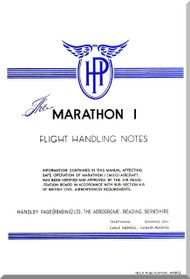 Handley Page / Miles  Marathon I Aircraft Flight  Manual