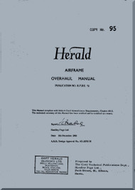 Handley Page Herald Aircraft  Airframe Overhaul  Manual