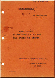 Handley Page Hereford  I Aircraft  Pilot's Notes Manual A. P. 1623 B