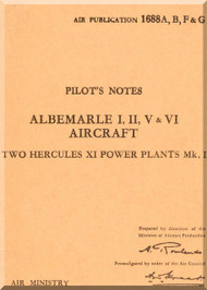 Armstrong Whitworth Albemarle Aircraft Pilot's Notes Manual