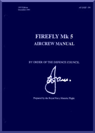 Fairey Firefly  Mk. 5 Aircraft  Aircrew Manual