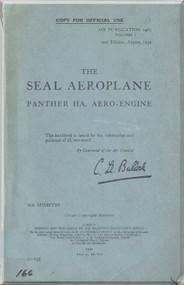 Fairey Seal Aircraft Technical Manual -  Air Publication 1465 , Volume 1, 1934