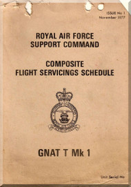 Folland Gnat T  Mk.1 Aircraft  Flight Service Schedule Manual