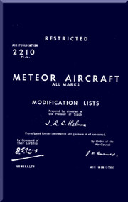 Gloster Meteor 7 Aircraft Modification List Manual -