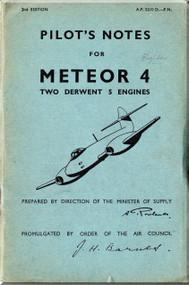 Gloster Meteor 4 Aircraft Pilot's Notes Manual