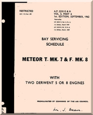 Gloster Meteor T Mk.7 Mk.9 Aircraft Bay Servicing Schedule Manual