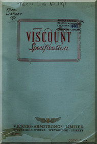 Vickers Viscount 700 Aircraft  Specification Manual