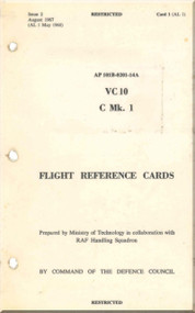 Vickers VC-10 C Mk 1 Aircraft  Flight Reference Card Manual