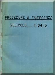 FIAT Republic F-84 Aircraft Emergency Procedure Manual