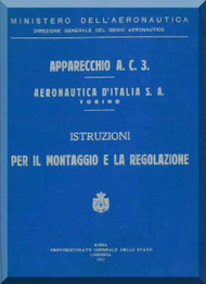 Fiat /  Aeronautica D'Italia  S.A.  AC.3  Aircraft Maintenance Manual