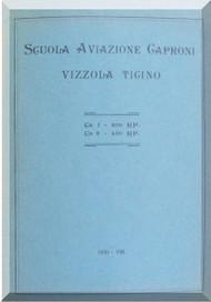 Caproni CA.1 Ca.3  Aircraft  General Description Manual,  Descrizione e Funzionamento ( Italian Language ) , 1930