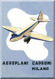 Caproni Ca.308 Aircraft Technical Brochure Manual,   ( Italian Language ) ,   1935