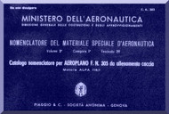 NARDI FN.305 Aircraft Illustrated Parts Catalog  Manual, Catalogo Nomenclatore ( Italian Language )