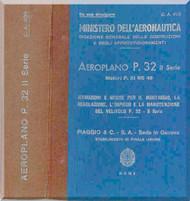 Piaggio P.32 Aircraft  Maintenance Manual, Istruzione Montaggio e Regolazione ( Italian Language )