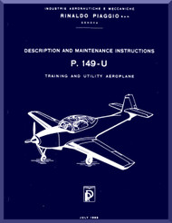 Piaggio P.149 U Aircraft Maintenance  Manual,  ( English Language )