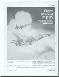General  Dynamic  F-111D Aircraft Flight Manual, T.O. 1F-111D-1, 1972