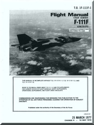 General Dynamics F-111F Aircraft Flight Manual, T.O. 1F-111F-1, 1977