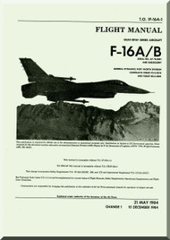 General Dynamics / Lockheed  F-16 A / B  Aircraft   Flight Manual