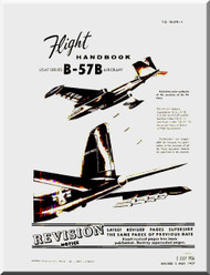 Glenn Martin B-57 B Canberra Aircraft Flight  Manual - 1B-57B-1 - 1956