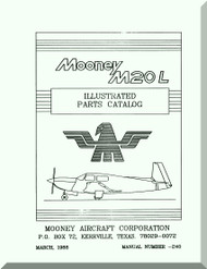 Mooney M.20 L Aircraft Illustrated  Part Manual - 1988