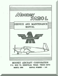 Mooney M.20 L Aircraft Service Maintenance Manual - 1988