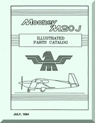 Mooney M.20 J Aircraft Illustrated  Part Manual - 1994