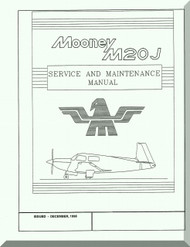 Mooney M.20 J Aircraft Service Maintenance Manual - 1998