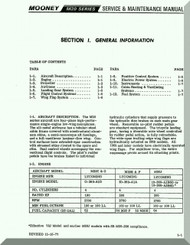 Mooney M.20 C E F G Aircraft Service Maintenance Manual - 1977