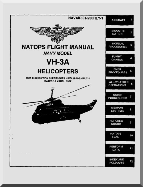 sikorsky navy vh 3a helicopter flight manual naweps 01 230hly 1 rh aircraft reports com Helicopter Flight Controls with Collective Helicopter Cockpit Controls
