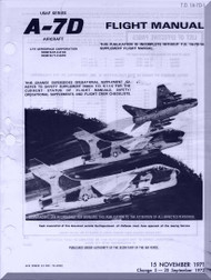 "Vought A7D "" Corsair II  ""  Aircraft Flight  Manual 01-A7-D1  - 1971"