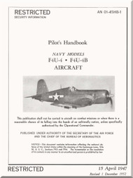 Vought  F4U-A, B, Pilot 's Handbook of flight operation instructions , AN 01-45HB-1 , 1947