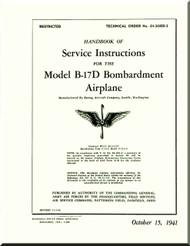 Boeing B-17 D Aircraft  Maintenance Handbook Manual 01-20ED-2 - 1941