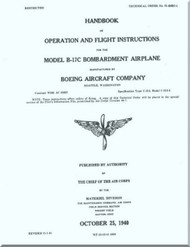 Boeing B-17 C Aircraft Operation and Flight Instruction Instructions  Manual -  AN 01-20EC-1 ,   1940