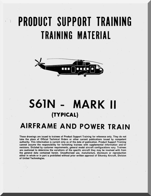 sikorsky s61 n helicopter training maintenance manual airframe powertrain aircraft reports Sikorsky Attack Helicopter Sikorsky H-34 Helicopter