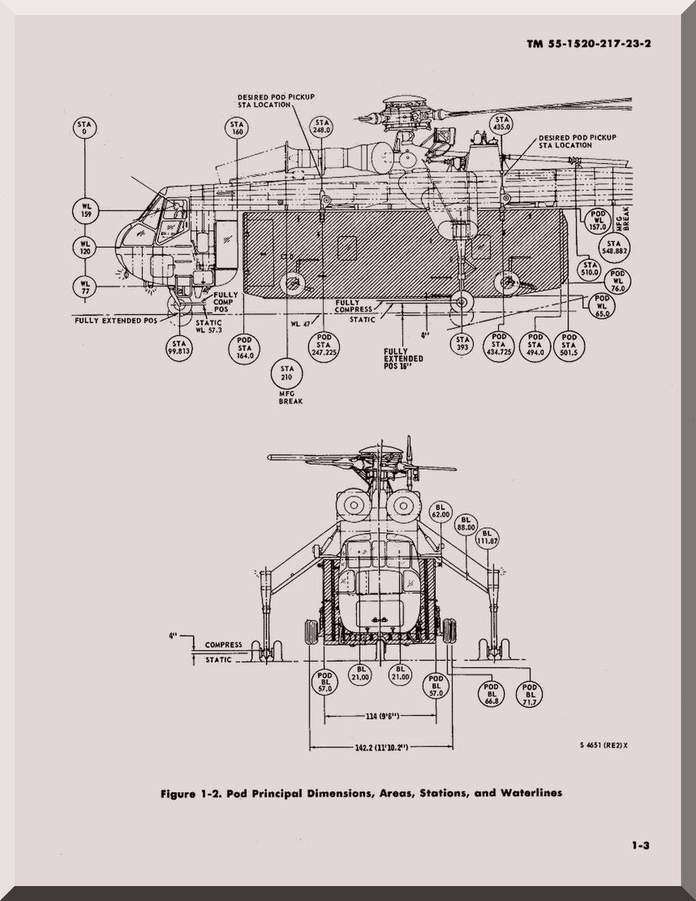 Sikorsky S-64 CH-54 A B Helicopter Maintenance Manual 55