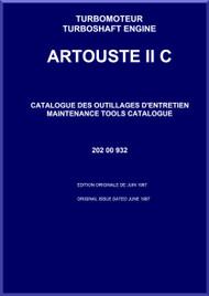 Turbomeca Artouste II C Aircraft Helicopter Engine Maintenance Tools Catalogue Manual - 1987