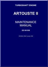 Turbomeca Artouste II C Aircraft Helicopter Engine Maintenance Manual - 1960