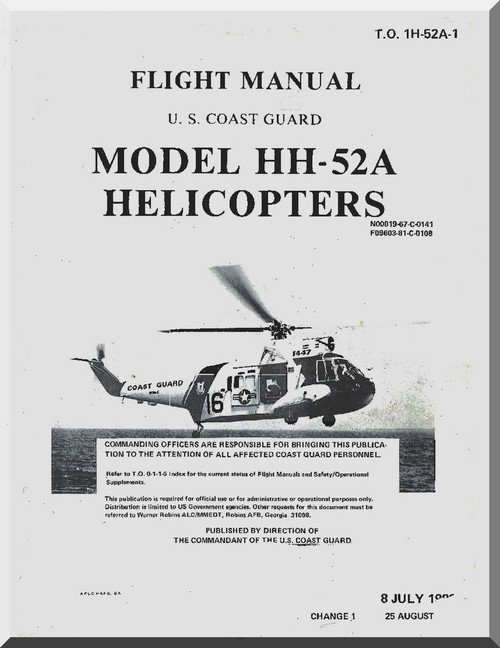 Sikorsky HH-52A Helicopter Flight Manual , T.O. 1H-52A-1