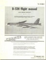 Boeing B-52 H Aircraft Flight  Manual -  T.O. 1B-52H-1 , 1975